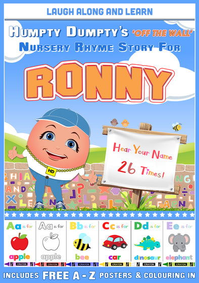 Personalised Nursery Rhyme Story for Ronny (Male Version)