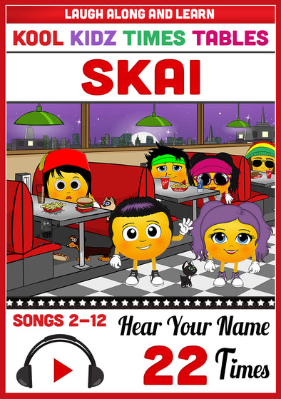 Kool Kidz Personalised for Skai (Pronounced as SKY)
