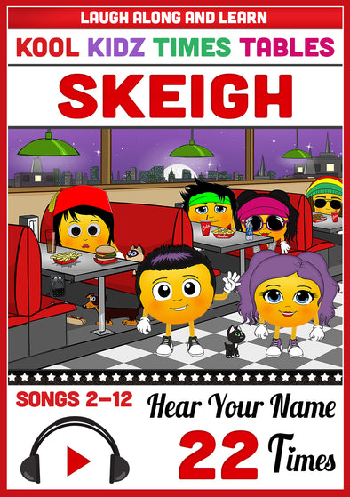 Kool Kidz Personalised for Skeigh (Pronounced as SKY)