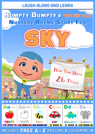 Personalised Nursery Rhyme Story for Sky