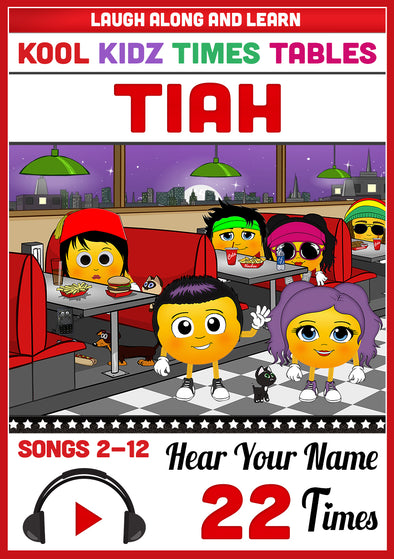Kool Kidz Personalised for Tiah (Pronounced as TEE-ah)