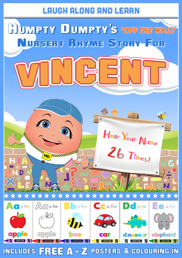 Personalised Nursery Rhyme Story for Vincent