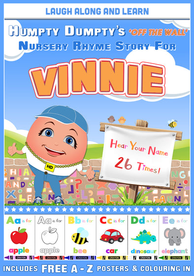 Personalised Nursery Rhyme Story for Vinnie