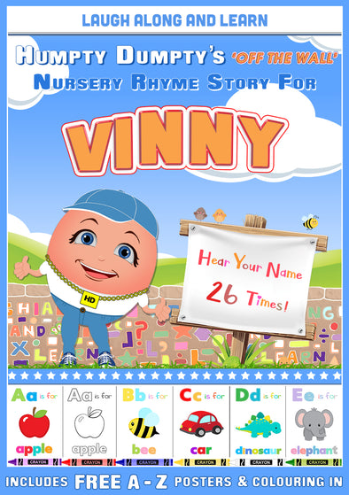 Personalised Nursery Rhyme Story for Vinny