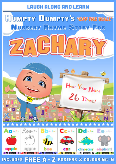 Personalised Nursery Rhyme Story for Zachary