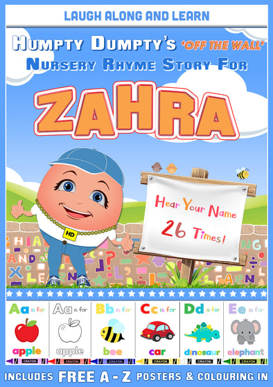 Personalised Nursery Rhyme Story for Zahra