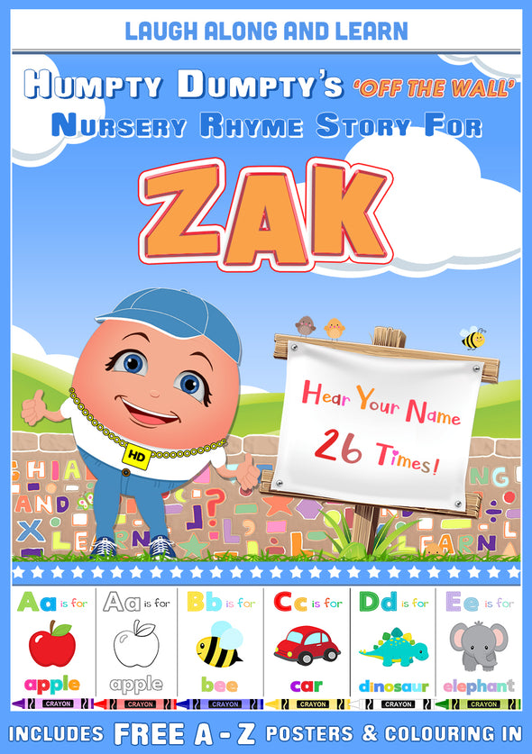 Personalised Nursery Rhyme Story for Zak