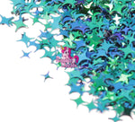 Green to Blue Four Point Stars