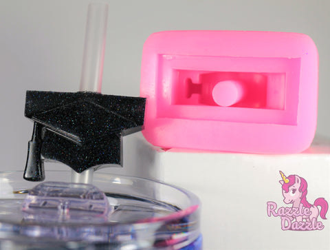 Graduation Cap Straw Topper Mold