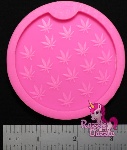 Marijuana Leaf Car Coaster (med.)