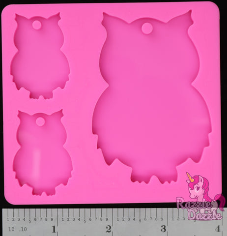 Owl Family Key Chain Mold