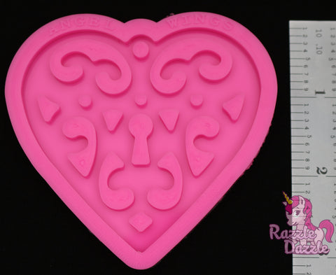 Intricate Heart Key Chain Mold