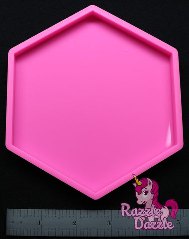 Pink Hexagon Coaster Mold
