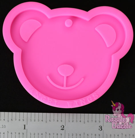 Teddy Bear Face Keychain Mold