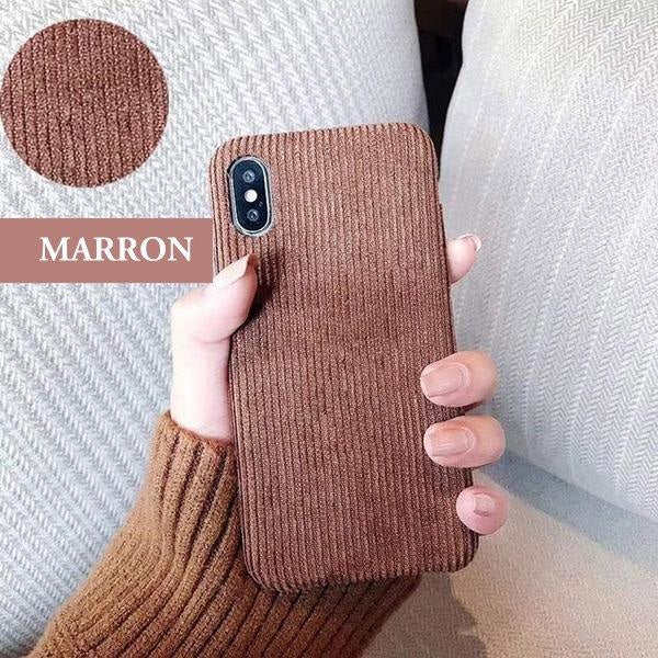 Coque De Luxe En Velours Doux Anti Traces Dempreintes Pour Iphone 11 Pro Marron