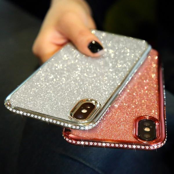 Coque luxueuse incrustée de strass et ultra brillante pour iPhone 11 -