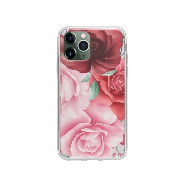 Coque Pour iPhone 11 Pro Roses - Transparent - Coque: 10€-15€, Albert Dupont, Fleur, iPhone 11 Pro