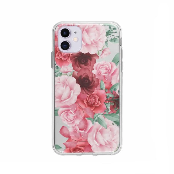 Coque Pour iPhone 11 Roses Fleuries - Transparent - Coque: 10€-15€, Albert Dupont, Fleur, iPhone 11