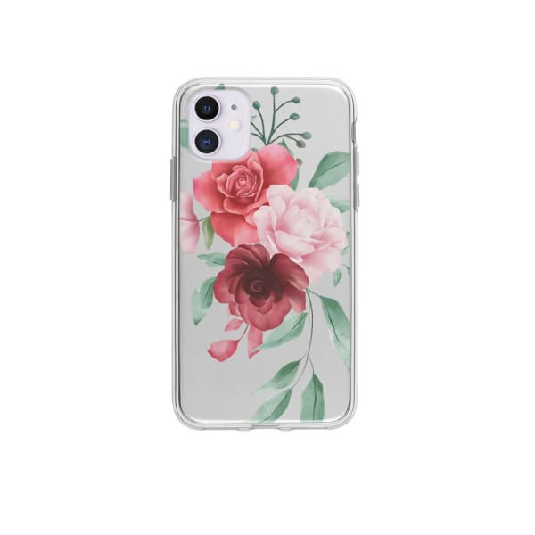 Coque Pour iPhone 12 Composition Florale - Transparent