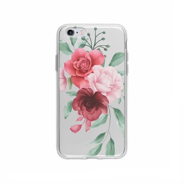 Coque Pour iPhone 6 Plus Composition Florale - Transparent