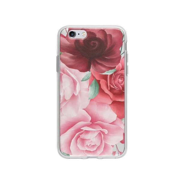 Coque Pour iPhone 6 Roses - Transparent - Coque: 5€-10€, Albert Dupont, Fleur, iPhone 6