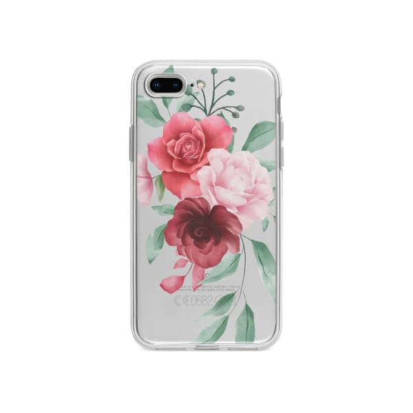 Coque Pour iPhone 7 Plus Composition Florale - Transparent