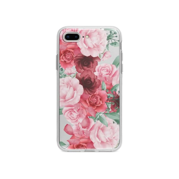 Coque Pour iPhone 7 Plus Roses Fleuries - Transparent