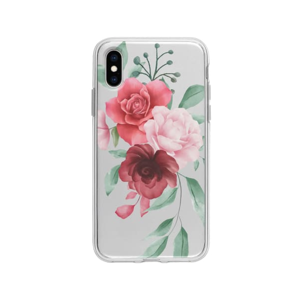 Coque Pour iPhone X Composition Florale - Transparent