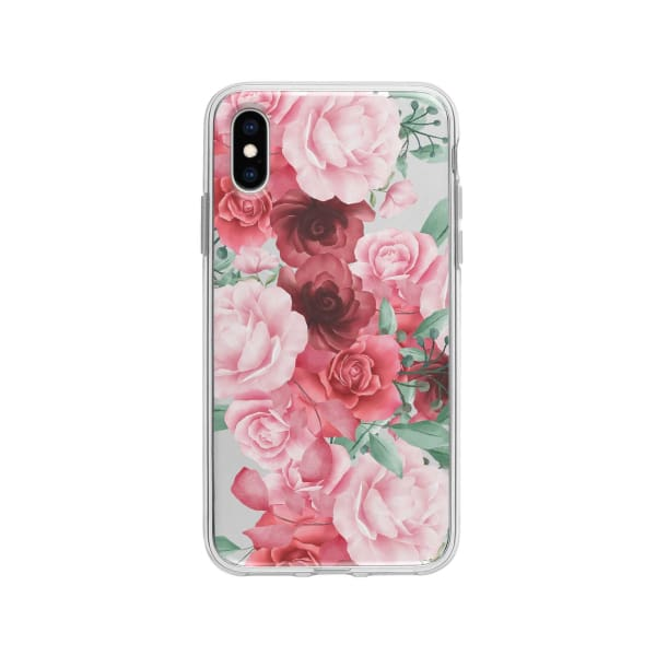 Coque Pour iPhone X Roses Fleuries - Transparent - Coque: 10€-15€, Albert Dupont, Fleur, iPhone X