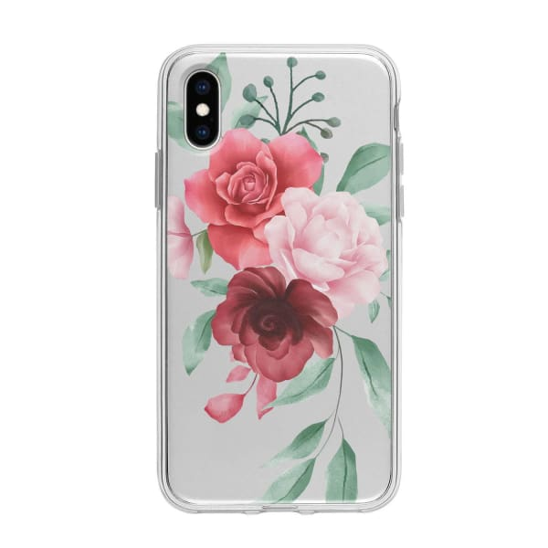 Coque Pour iPhone XS Composition Florale - Transparent