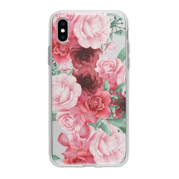 Coque Pour iPhone XS Max Roses Fleuries - Transparent