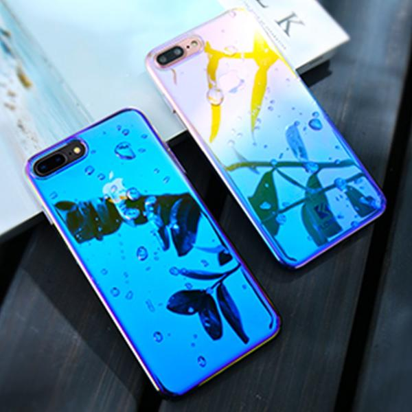 Coque à placage unicolore dégradé transparent ultra slim pour iPhone X