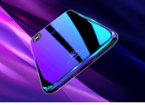 Coque à placage unicolore dégradé transparent ultra slim pour iPhone XS