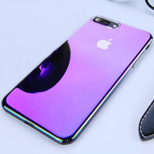 Coque à placage unicolore dégradé transparent ultra slim pour iPhone XS Max -