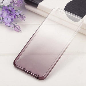 Coque bicolore dégradé transparent ultra slim pour iPhone XS Transparent Noir