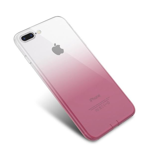 Coque bicolore dégradé transparent ultra slim pour iPhone XS Transparent Rose