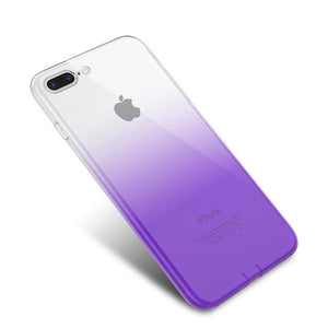 Coque bicolore dégradé transparent ultra slim pour iPhone XS Transparent Violet