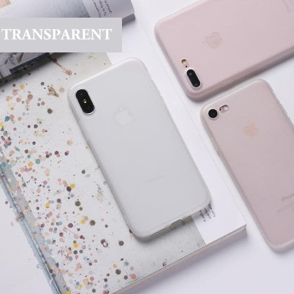 Coque en silicone souple ultra slim à couleur de confiserie pour iPhone 6 et iPhone 6S de couleur Transparent