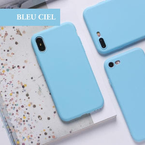 coque iphone xr bleu turquoise