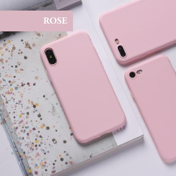 coque iphone xr rose silicone