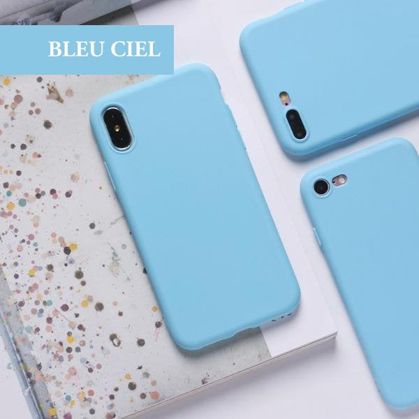 coque silicone iphone xs max bleu