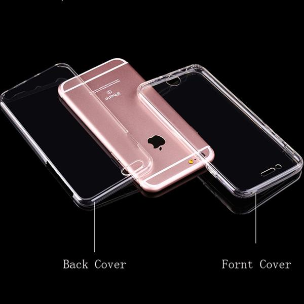 Coque en silicone TPU totale protection couverture 360 pour iPhone 6 Plus et iPhone 6S Plus