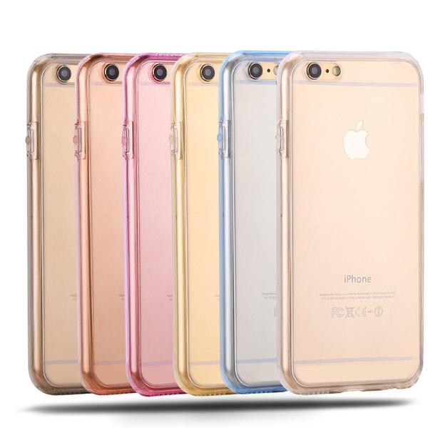 Coque en silicone TPU totale protection couverture 360 pour iPhone 7 Plus