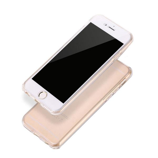 Coque en silicone TPU totale protection couverture 360 pour iPhone 8 Plus