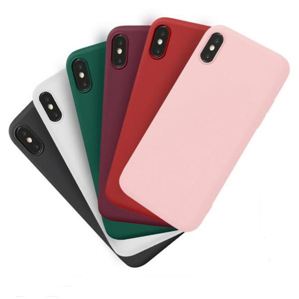 Coque en silicone ultra slim de couleur mate pour iPhone 6 et iPhone 6S -