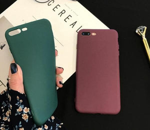 Coque en silicone ultra slim de couleur mate pour iPhone 8