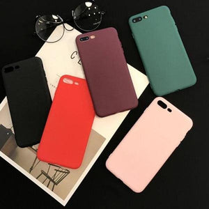 Coque en silicone ultra slim de couleur mate pour iPhone X