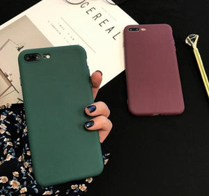 Coque en silicone ultra slim de couleur mate pour iPhone XS