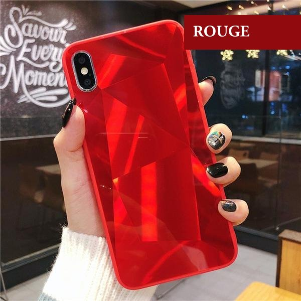 coque iphone xr miroir rouge