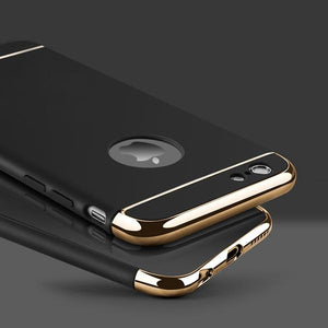 Coque luxueuse avec bordures reproduction platine pour iPhone 6 et iPhone 6S